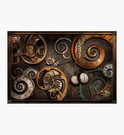 Steampunk - Abstract - Time is complicated Photographic Print