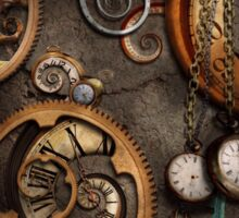 Steampunk - Abstract - Time is complicated Sticker