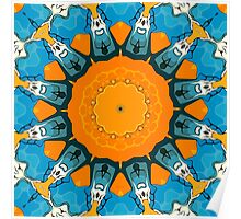 Orange And Blue Abstract Poster
