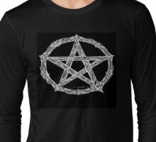 Wicca Pentacle Black Long Sleeve T-Shirt