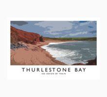 Thurlestone Bay (Railway Poster) Baby Tee