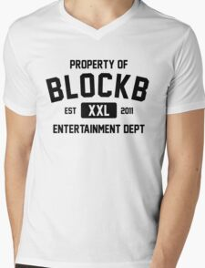 Property of Block B (Black Ver) Mens V-Neck T-Shirt