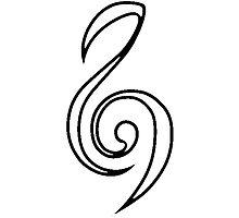 Zelda Hero Clef Violin Music Symbol Minimal Ocarina by Yophio