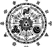 Zelda Time Portal Gate Minimal Design Skyward Sword White Version by Yophio