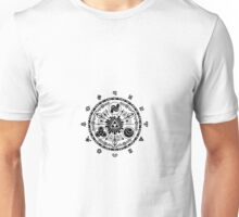 Zelda Time Portal Gate Minimal Design Skyward Sword White Version Unisex T-Shirt