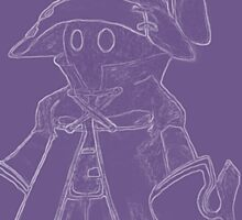 Vivi (Final Fantasy IX) (inverted, purple) Sticker