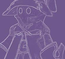 Vivi (Final Fantasy IX) (inverted, purple) Sticker