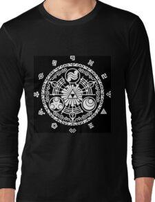 Zelda Time Portal Minimal Design Skyward Sword Black Version Long Sleeve T-Shirt