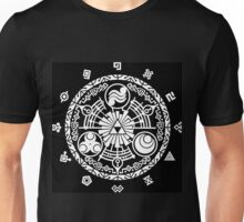 Zelda Time Portal Minimal Design Skyward Sword Black Version Unisex T-Shirt