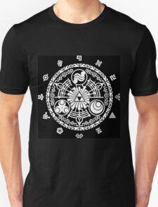 Zelda Time Portal Minimal Design Skyward Sword Black Version T-Shirt