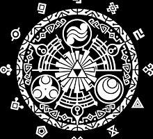 Zelda Time Portal Minimal Design Skyward Sword Black Version by Yophio