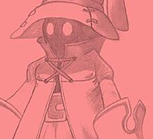 Vivi (Final Fantasy IX) (pink, framed) Sticker