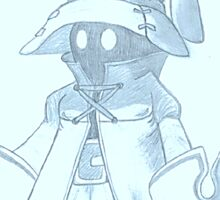 Vivi (Final Fantasy IX) (blue) Sticker