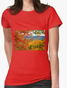 Colorful Fall Womens Fitted T-Shirt