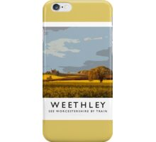 Weethley (Railway Poster) iPhone Case/Skin