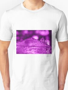 Frozen Purple Abstract T-Shirt