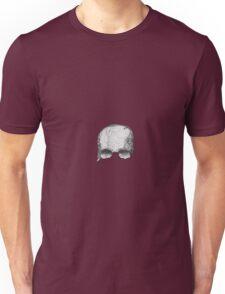 Grey pencil Skull Unisex T-Shirt
