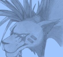 Red XIII (Final Fantasy VII) (blue) Sticker