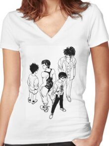 the spiritual squad Women's Fitted V-Neck T-Shirt