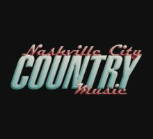 Nashville City Country Music    Kids Tee