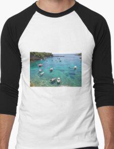 Votsi boats, Alonissos Men's Baseball ¾ T-Shirt