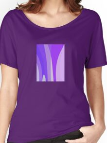Blues, Purples, Pinks Abstract Women's Relaxed Fit T-Shirt