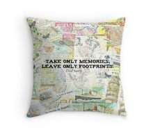 Travel Chief Seattle inspirational ecology quote Throw Pillow