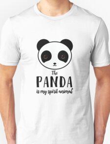 The panda is my spirit animal Type Illustration Unisex T-Shirt