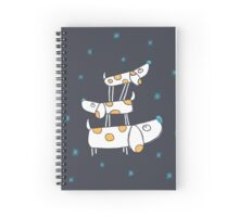 Tower of Dogs in Space Spiral Notebook