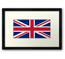United Kingdom flag Framed Print