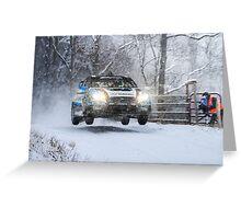 Subaru Rally Car Greeting Card