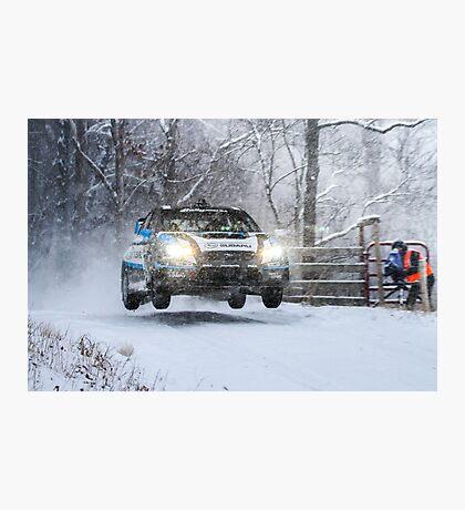 Subaru Rally Car Photographic Print