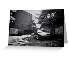 Black and white mx-5 Greeting Card