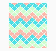 Chevron Quatrefoil Mint Peach Blue Pattern Classic T-Shirt