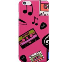 rock and roll mix tape pink iPhone Case/Skin