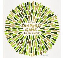 Snapchat – Green & Gold Photographic Print