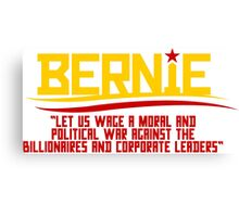 BERNIE SOVIET-STYLE (red and yellow) Canvas Print