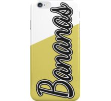 """Black and White """"Bananas"""" on Yellow iPhone Case/Skin"""