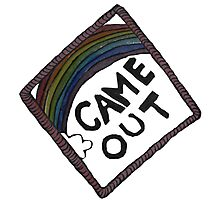 Came Out Achievement Badge Photographic Print