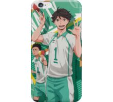 Owikawa and Iwaizumi Flag Signal iPhone Case/Skin