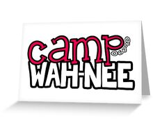 Camp Wah-Nee Zip Code Greeting Card