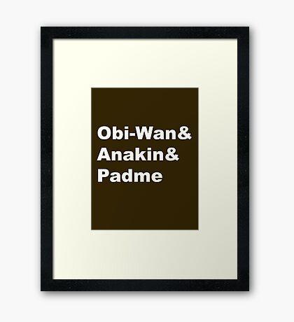 The Prequel Trio Framed Print