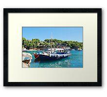 Votsi fishing boats, Alonissos Framed Print