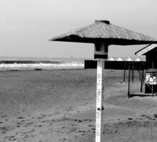 Ostia seafront: beach Sticker