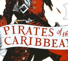 Pirates of the Caribbean Attraction Poster Sticker