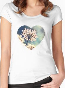 Queen Annes Lace flowers Women's Fitted Scoop T-Shirt