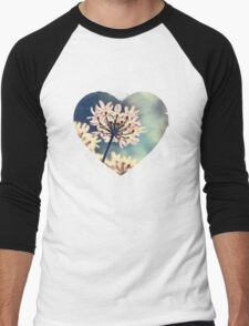 Queen Annes Lace flowers Men's Baseball ¾ T-Shirt