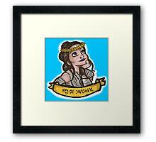 Rey of Sunshine Framed Print