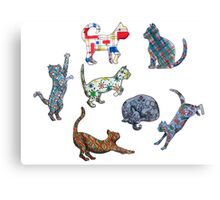 Cat Patterns Canvas Print
