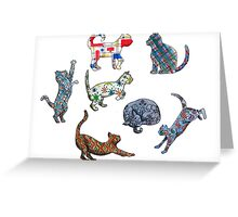Cat Patterns Greeting Card